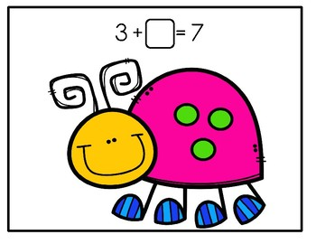 Playdough Math Mats - Missing Addends With Ladybug Spots