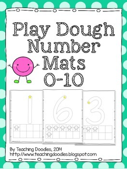 Playdough Math Number Mats