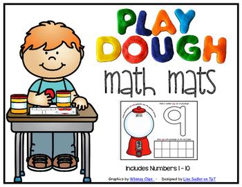 Playdough Math Number Mats