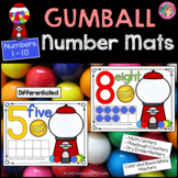 Play Dough - Number Counting Mats 1 - 10 {GUMBALL MATH}