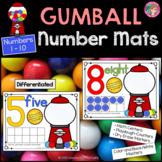 Play Dough - Number Counting Mats 1 - 10 {GUMBALL MATH}