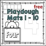 Playdough Mats 1-10 Free