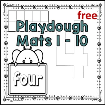 Playdough Mats 1-10 Free