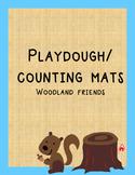 Playdough Mats 1-10 Woodland Friends