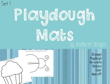 Playdough Mats: complete the picture