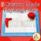 Name Playdough Mats - 5 Custom Made Mats