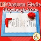 Name Playdough Mats - 15 Custom Made Mats
