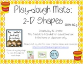 Playdough Mats: 2D Shapes {FREE}