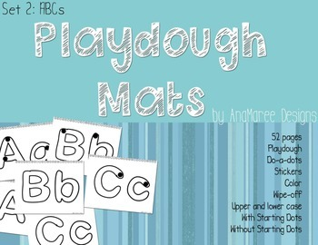 Playdough Mats A-Z upper-case and lower-case