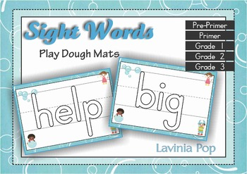 Sight Words Play Dough Mats with lines