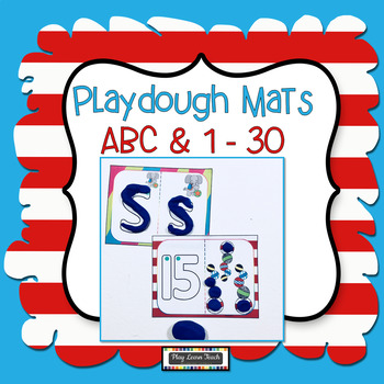 Play dough Mats Silly Cat Alphabet & Numbers 1-20