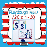 Playdough Mats Alphabet & Numbers 1-30 Silly Cat