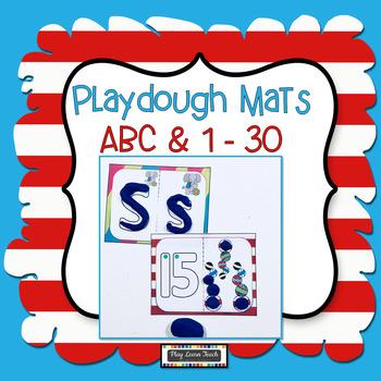 Play dough Mats Silly Cat Alphabet & Numbers 1-20