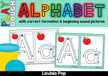 Alphabet Play Dough Mats