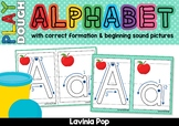 Alphabet Playdough Mats / Play Dough Mats / Playdoh Mats