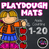 Playdough Mats - Apple Counting