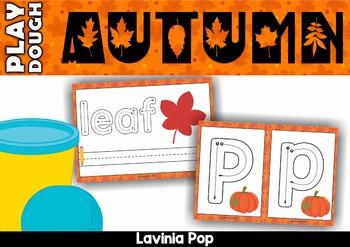 Autumn / Fall Alphabet and Words Play Dough Mats