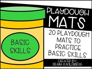 Playdough Mats {Basic Skills}