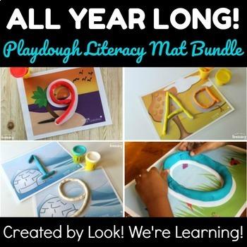 Playdough Mats Bundle: All Year Long Literacy!