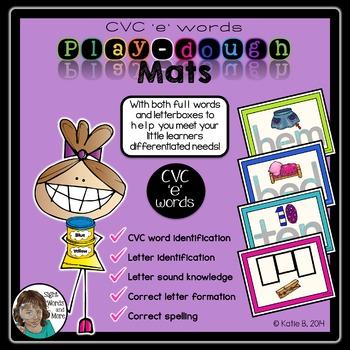 Playdough Mats - CVC 'e' Words