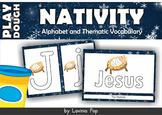 Christmas Nativity Alphabet and Vocabulary Play Dough Mats