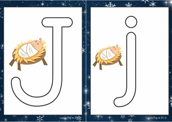 Christmas Nativity Alphabet and Vocabulary Play Dough Mats