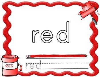 Playdough Mats - Color Words