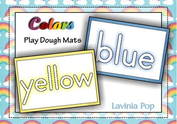 Playdough Mats - Colors / Colours