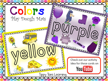 Playdough Mats - Colors with pictures