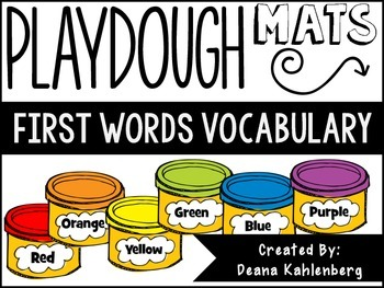 Playdough Mats {First Words}