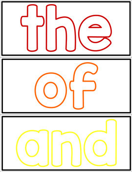 Sight Word Playdough Mats - Fry First 100