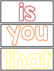 Sight Word Playdough Mats - Free