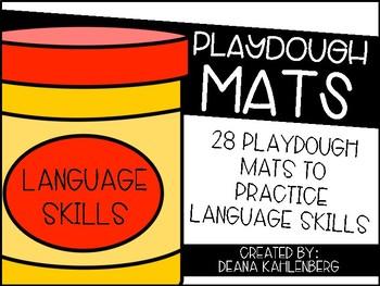 Playdough Mats {Language Skills}