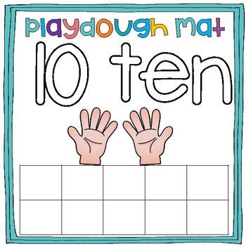 Playdough Mats: Math Center