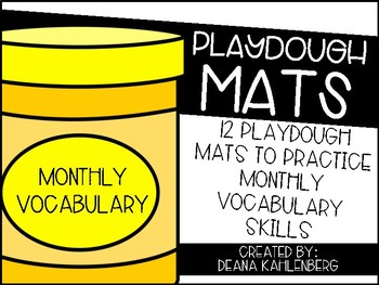 Playdough Mats {Monthly Vocabulary}