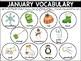 Playdough Mats {Monthly Vocabulary}
