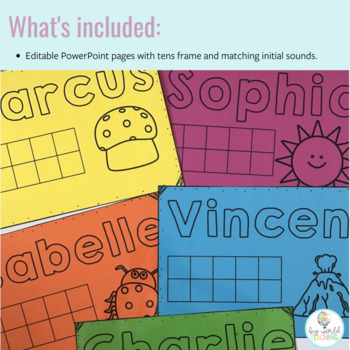 Play Dough Mats - Name, Picture and Tens Frame!