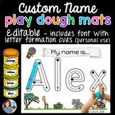 Playdough Mats Name Activity - EDITABLE