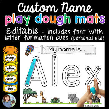 Playdough Mats Name Activity Editable By Sight Words And