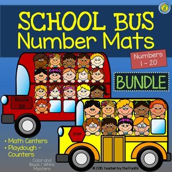 Playdough Mats - Number Mats {SCHOOL BUS BUNDLE}