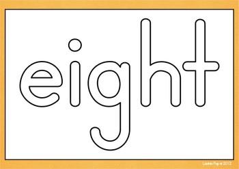 Playdough Mats - Number Words (0-20)