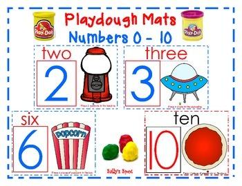 Playdough Mats - Numbers 0 - 10