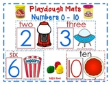 Playdough Mats - Numbers 0 - 10