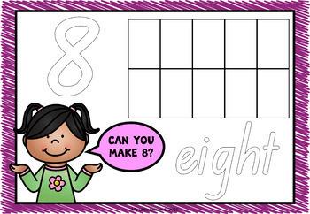 Playdough Mats Numbers 0-10 QLD Beginners Font