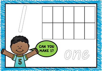 Playdough Mats Numbers 0-20 QLD Beginners Font