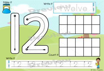 Playdough Mats Numbers (0-20), Ten Frames, Number Lines - Cute Button Theme!