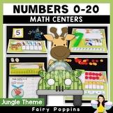 Jungle Math Mats - Numbers, Ten Frames, Number Lines
