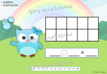 Playdough Mats Numbers (0-20), Ten Frames, Number Lines - Owl Theme!