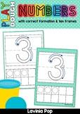 Number Play dough Mats with Ten Frames (0-20)