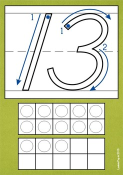 Playdough Mats - Numbers (0-20) with Ten Frames D'Nealian
